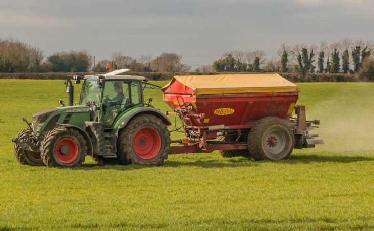 How much is contract fertiliser spreading costing?
