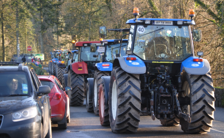 Wicklow Way tractor run in aid of Crumlin hospital