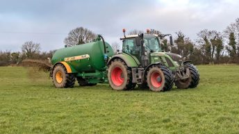 How much are contractors charging for slurry spreading?