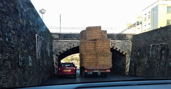 Pics: Tractor driver in near miss at 'The Cut'