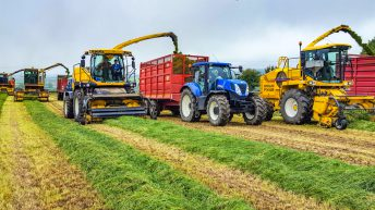 Where did New Holland self-propelled harvesters come from?