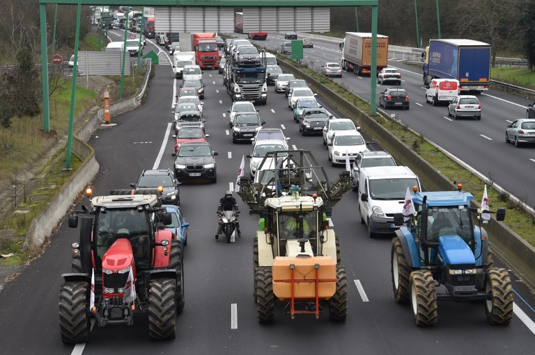 Image result for at holland, tractor blocked the streets protests