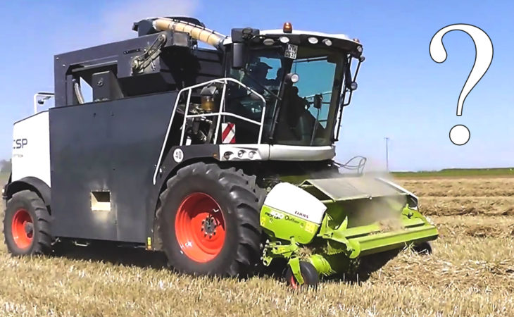 Here's a self-propelled harvester with a difference; but what is it?