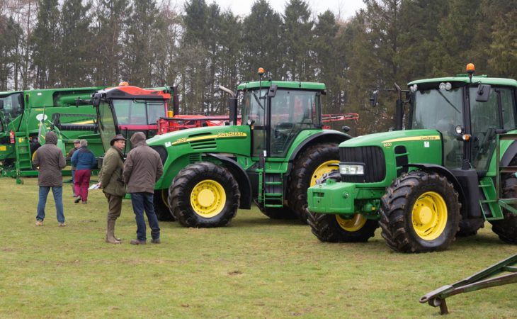 Auction report: John Deere combine and tractors change hands at 'on-site' sale