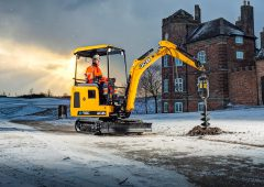 JCB's first 'electric' excavator breaks ground