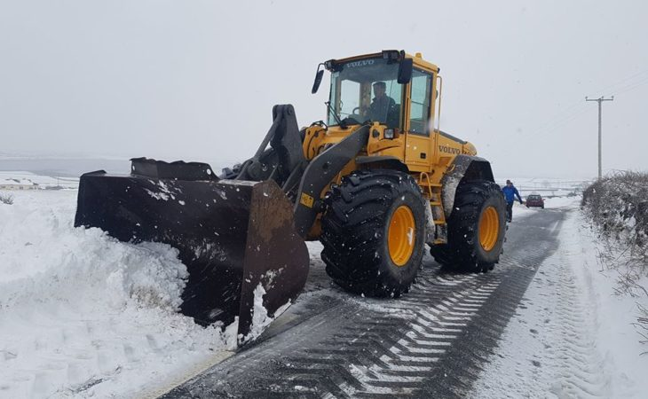 Taoiseach thanks farmers and contractors for tackling the worst of Storm Emma