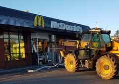 JCB smashed into McDonalds restaurant in Limerick