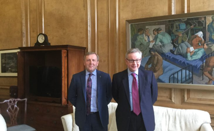 Trade top of the agenda as Creed meets UK Rural Secretary Gove