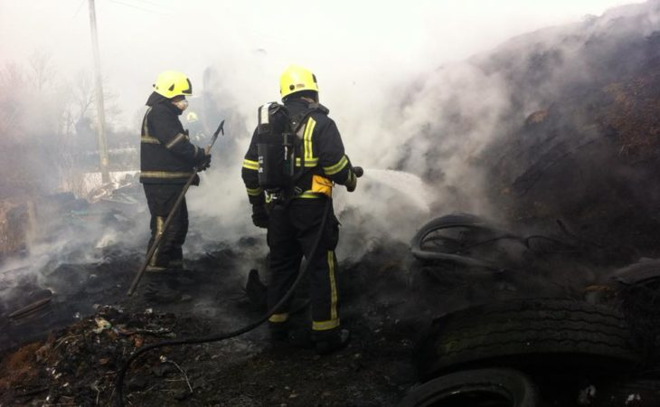Fire crews tackle silage pit fire in the midlands