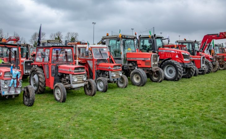 Video: 285 MF tractors in convoy; if she ain't red…