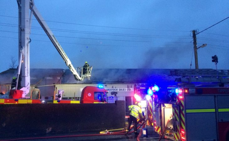 Fire fighters battling 'large blaze' at Tipperary mart