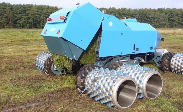Watch: The ultimate wet weather machinery…baling in a quagmire