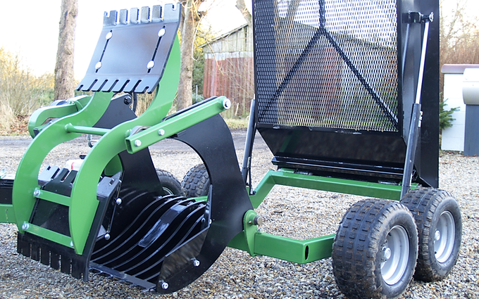 A handy, pint-sized stone picker…for your ATV