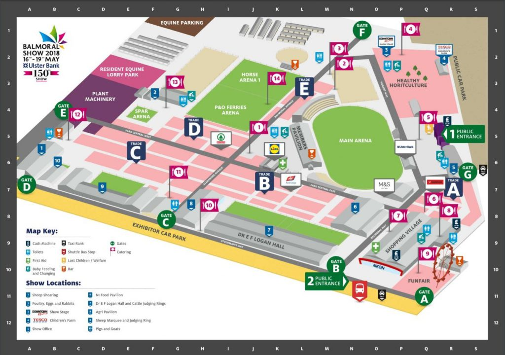 Balmoral Show 2018 site map