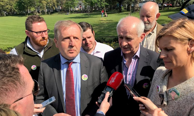 Creed and company canvass on upcoming referendum