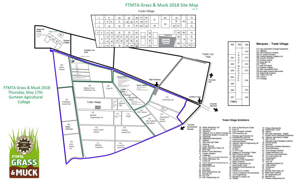 Grass & Muck 2018 site map