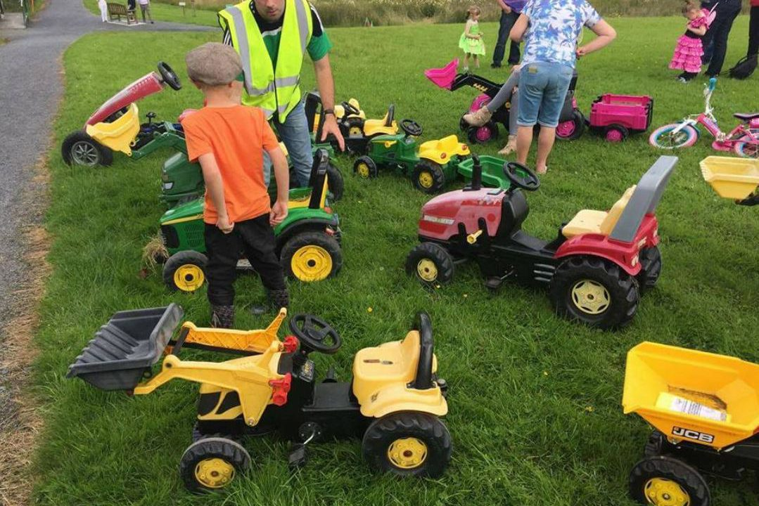 Longford farmers and fairies 'hit the road' on toy tractors