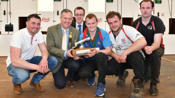 Young Farmers' Clubs of Ulster tug in a crowd at Balmoral