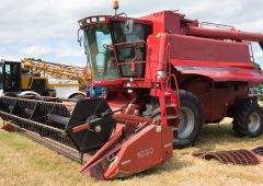 Auction report: Case IH combine heads the field in farm dispersal sale