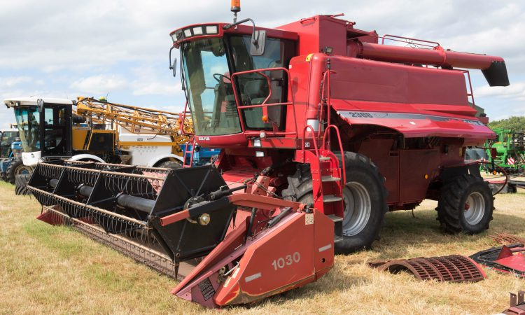 Auction report: Case IH combine heads the field in farm dispersal sale