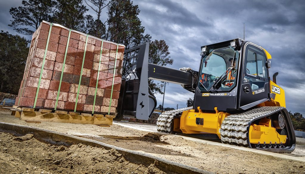 A Tracked Telescopic Skid Steer Loader Is This A
