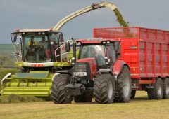 How many self-propelled forage harvesters are sold each year?