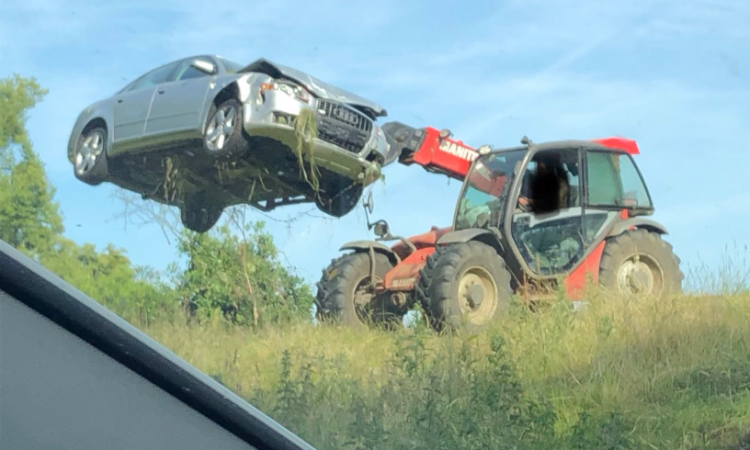 Farmer ousts abandoned Audi the agri way