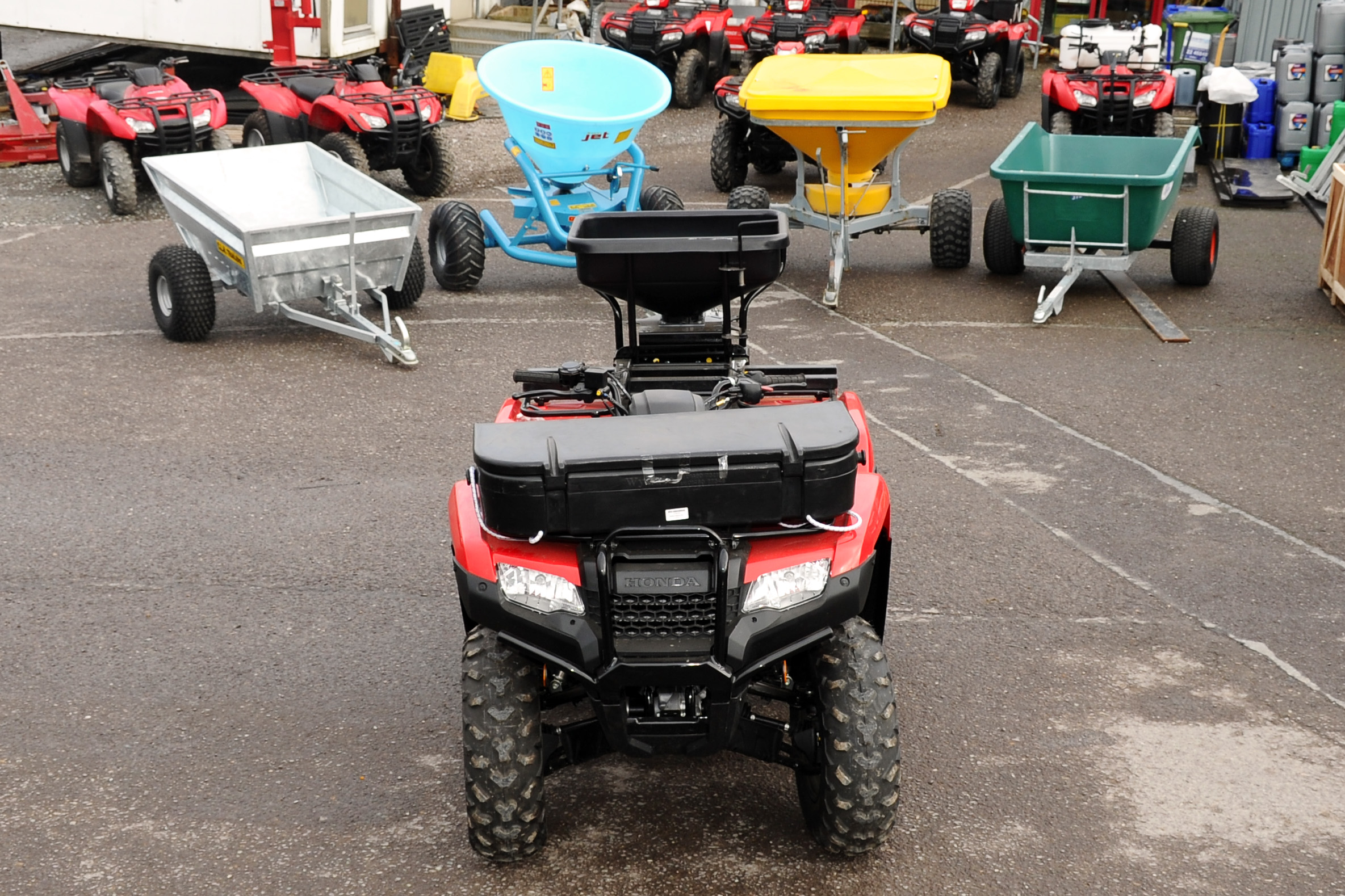 See why this quad was booted up with 'duals' at the rear