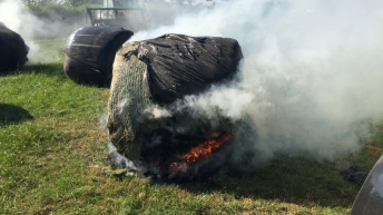 Farmer's bales go up in smoke in vandal strike