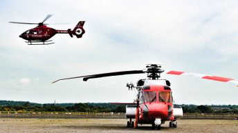 Man airlifted to hospital after falling into slurry tank