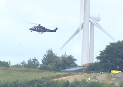 Man airlifted to hospital after accident on wind farm