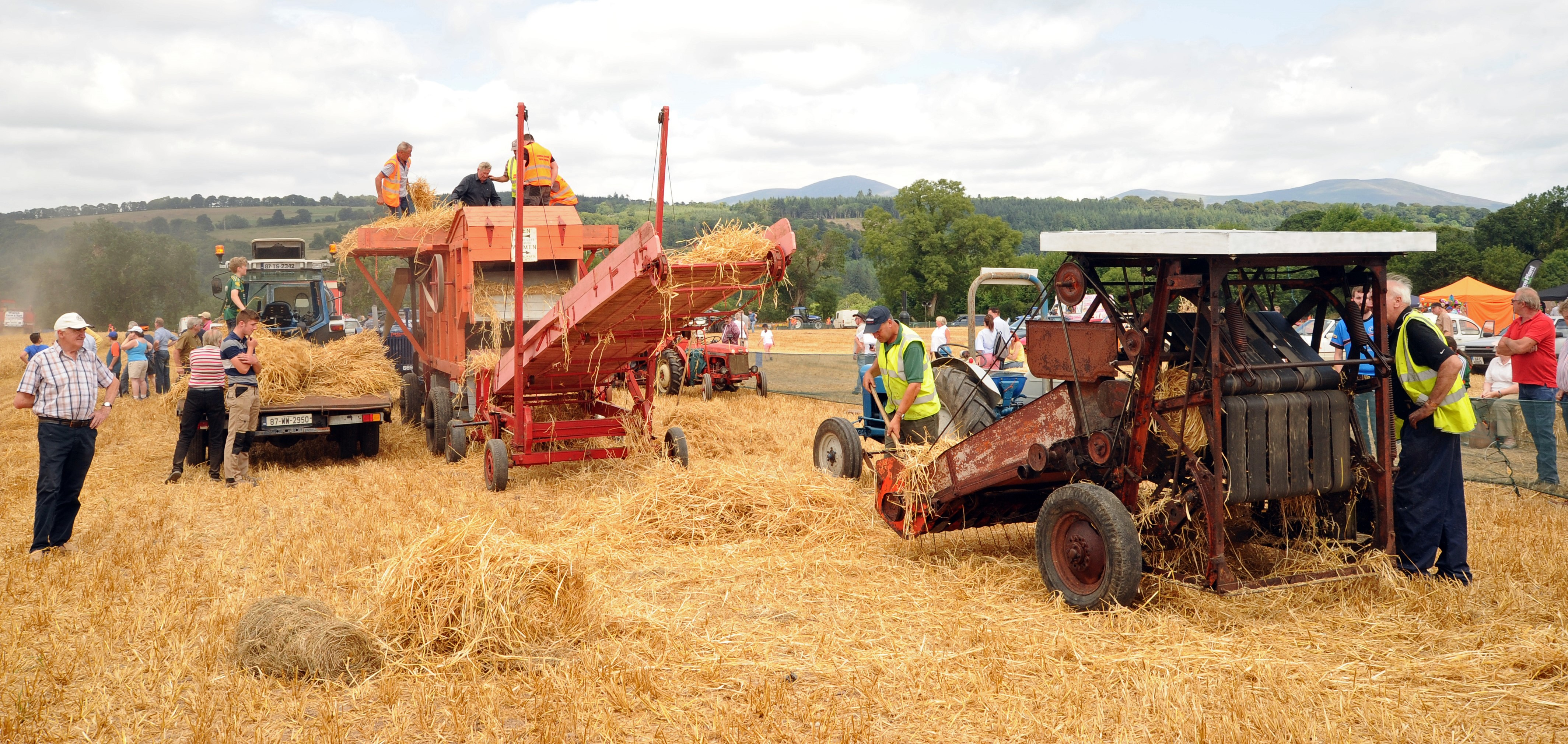 Old-school' muscle at harvest demo in Co  Waterford