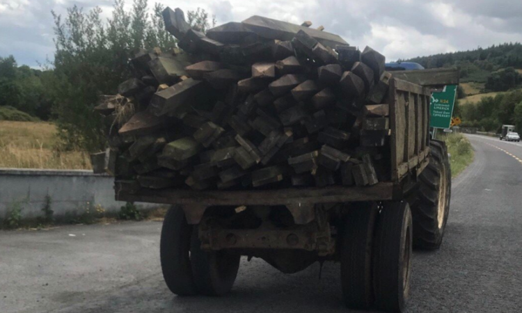 Putting lives at 'stake': Tractor pulled over for unsecured load