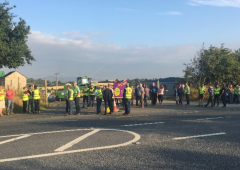 Talks commence after Wexford road blockade