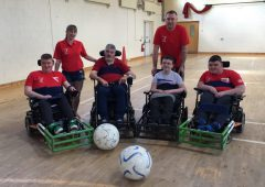 'The cattle passed no remarks on my new situation' – powerchair football star