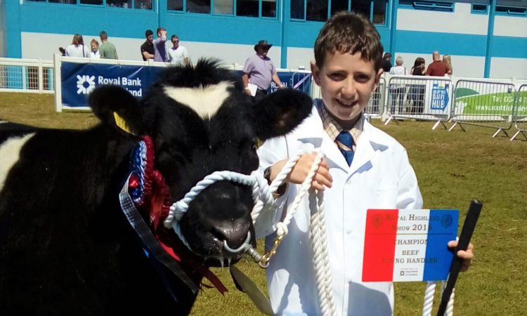 Young Limousin breeder manages major show hat-trick