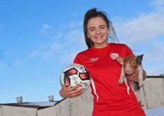 On the pig's back: Cavan farmer signs with top UK soccer club