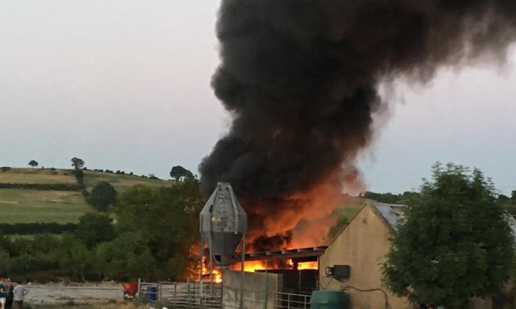 Pics: Dramatic scenes as Limerick firefighters tackle farmyard fire