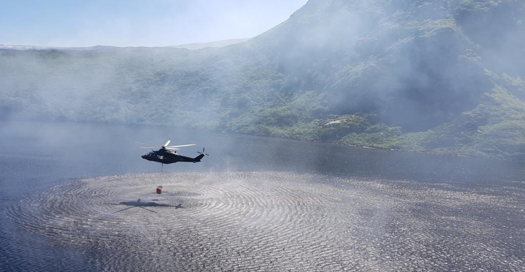 air corps gorse fire blaze