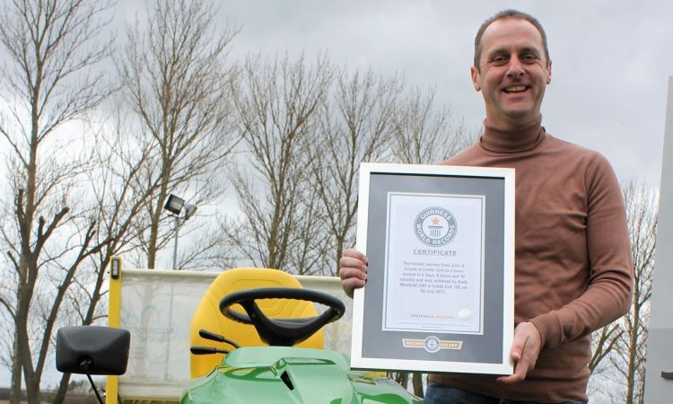 Epic lawn tractor journey is officially a world record