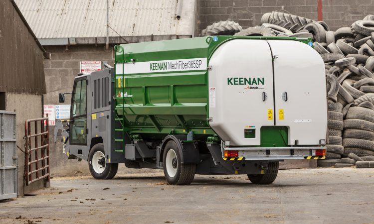 Giant self-propelled Keenan feeder lands in Co. Donegal