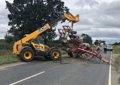 Tractor driver barely avoids 'harrowing' accident