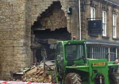 ATM ripped from shop wall using stolen telehandler