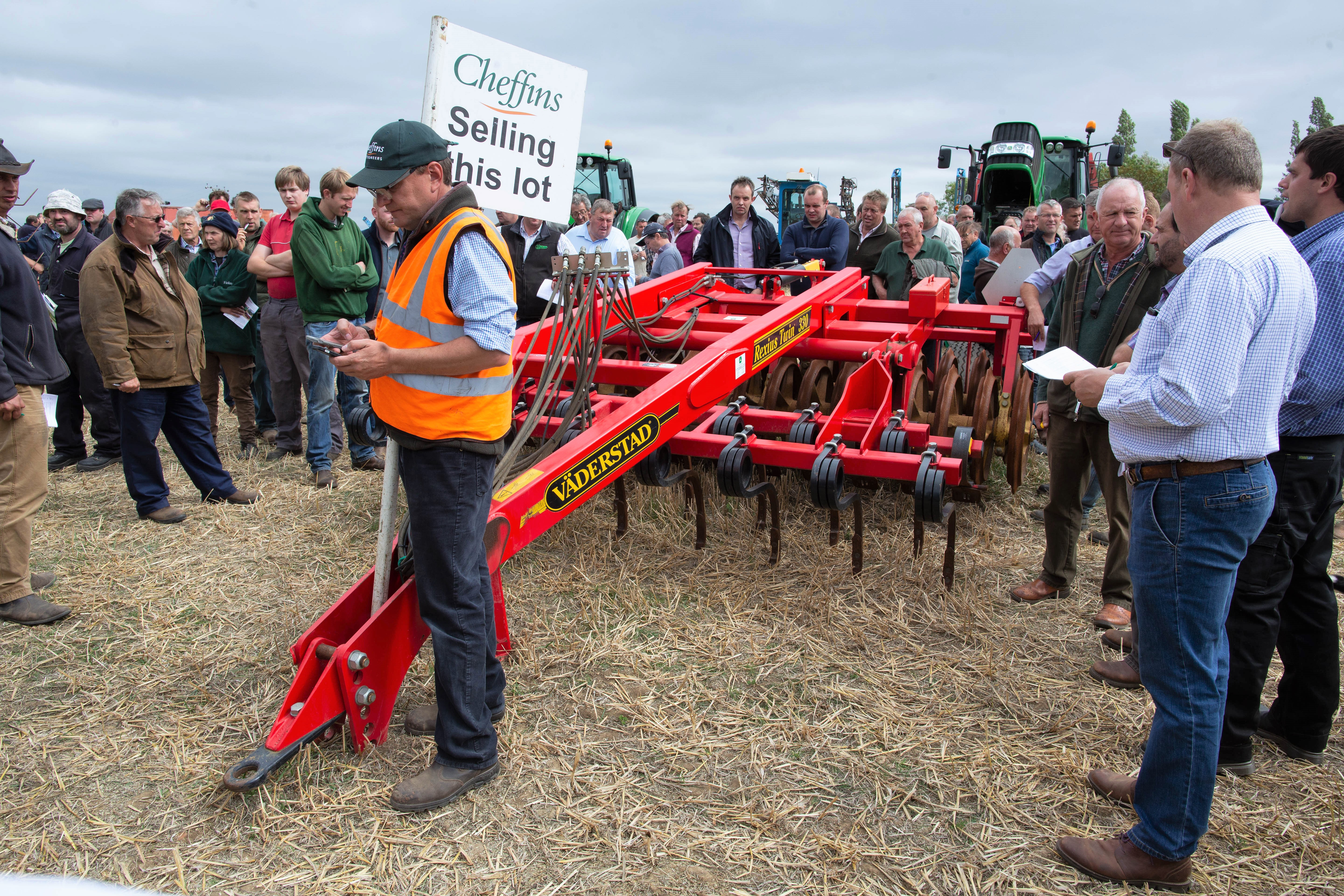 Auction report Ploughs presses and drills go under the hammer