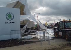 Pics: Extent of damage revealed…on-site at the 'Ploughing'