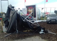 Storm chaos: 'We haven't been notified yet that the tent no longer exists'