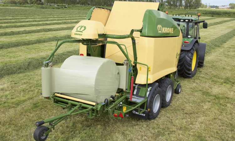 Weigh your bales on-the-go with this 'combi' baler-wrapper