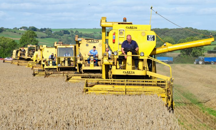 Combine convoy in Cork: From Claeys; to Clayson; then New Holland