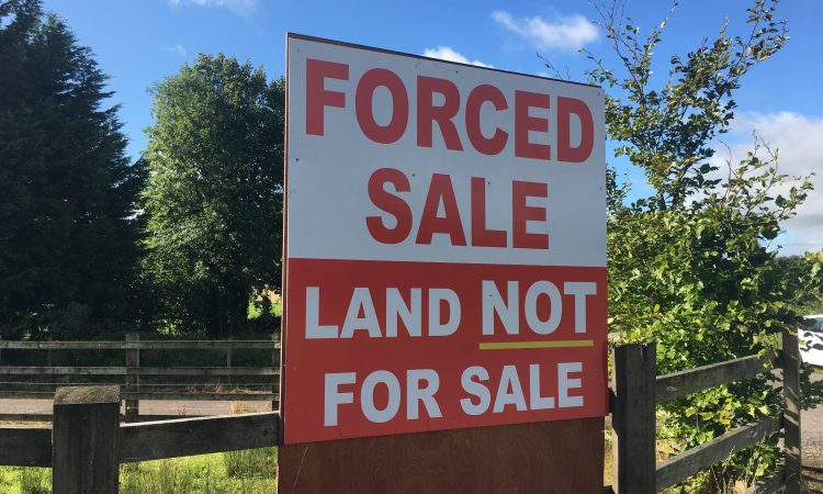 Meath farmers protesting to halt auction of farmland by vulture fund