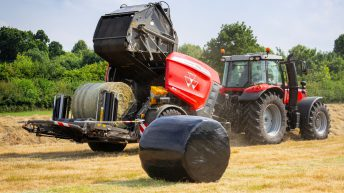 Massey Ferguson 'combi' baler-wrapper breaks cover
